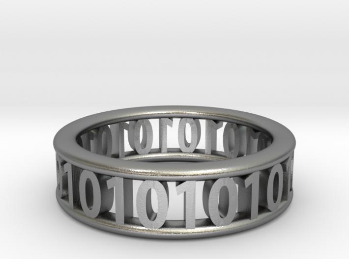 Binary ring 3d printed