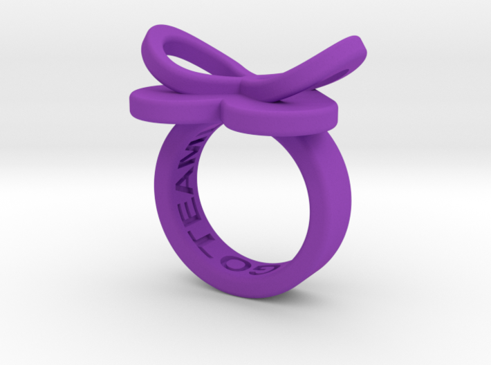 AMOUR petite in purple polished plastic 3d printed