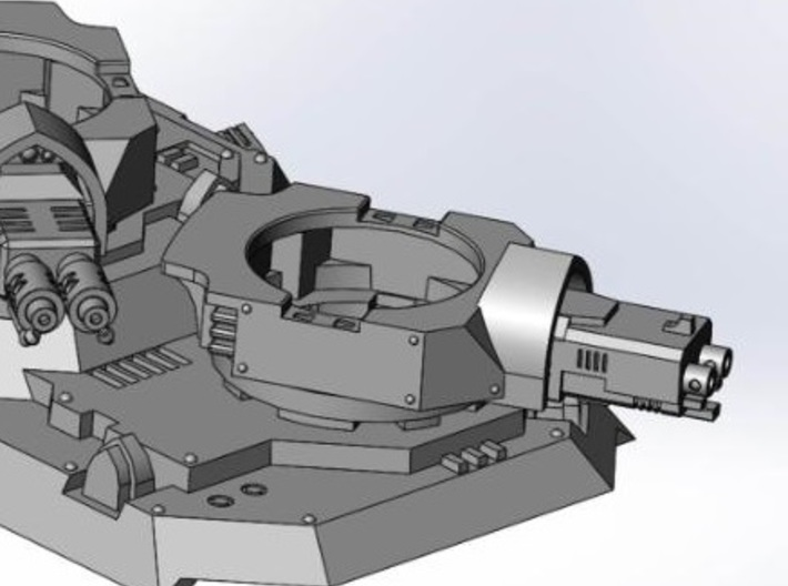 Heavy Transport Gun Turret 3d printed