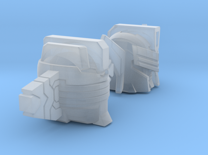 Smoker and Jacker Heads two-pack 3d printed