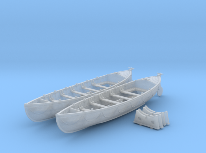 1/72 Royal Navy 27ft Whaler x2 3d printed 1/72 Royal Navy 27ft Whaler x2