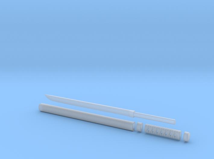 Wakizashi - 1:6 scale - Straight Blade - No Tsuba 3d printed