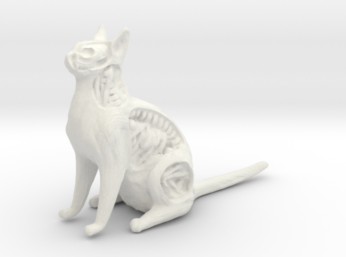 White Walker Cat 3d printed