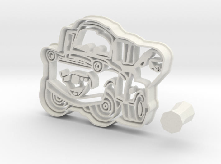 Mater Cookie Cutter from Cars 3 + Handle 3d printed