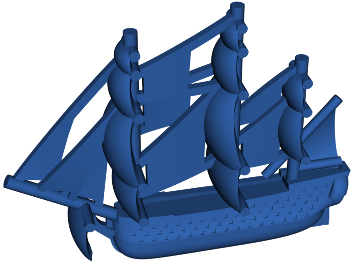 Ocean class Ship of the Line 3d printed