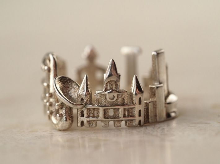 New Orleans Ring - Gift for Traveler 3d printed