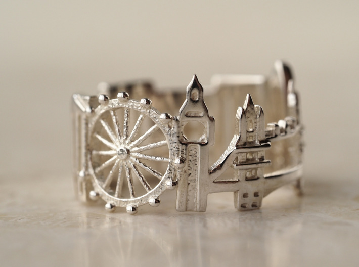 London Cityscape - Skyline Ring 3d printed