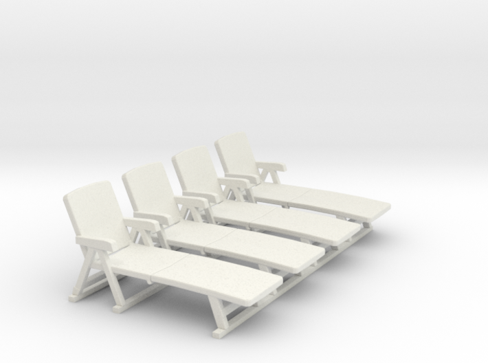 Deck Chair 01. 1:50 Scale 3d printed