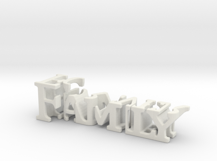 3dWordFlip: Family/Forever 3d printed