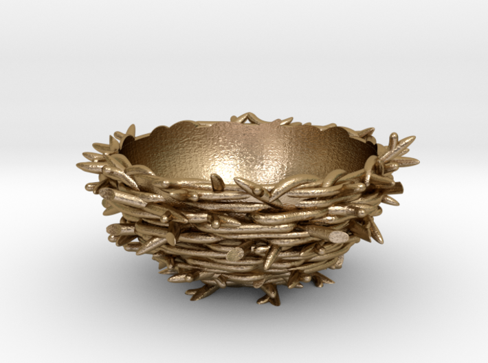 Gold 'Nest' Egg Cup 3d printed