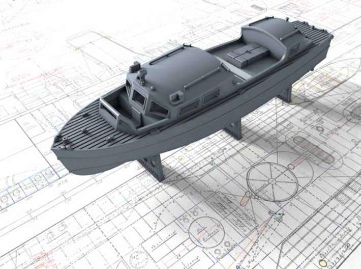 1/200 Royal Navy 35ft Fast Motor Boat 3d printed 1/200 Royal Navy 35ft Fast Motor Boat