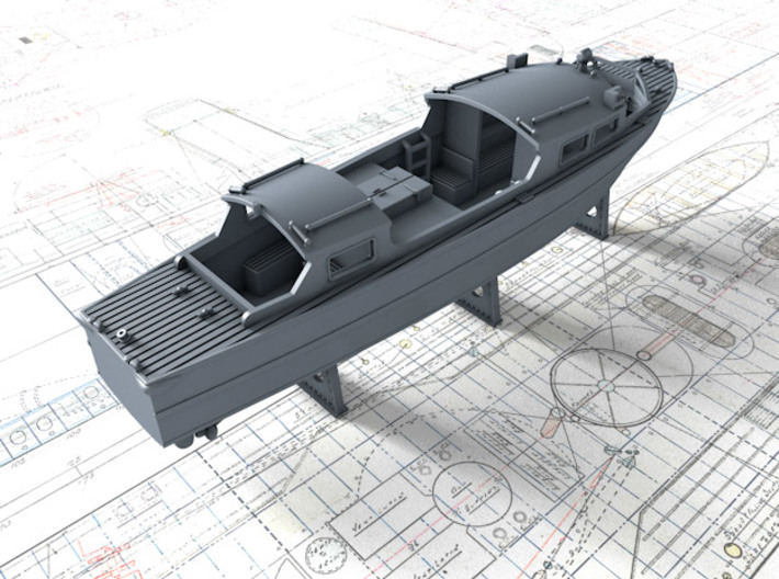 1/200 Royal Navy 35ft Fast Motor Boats x2 3d printed 3d render showing product detail