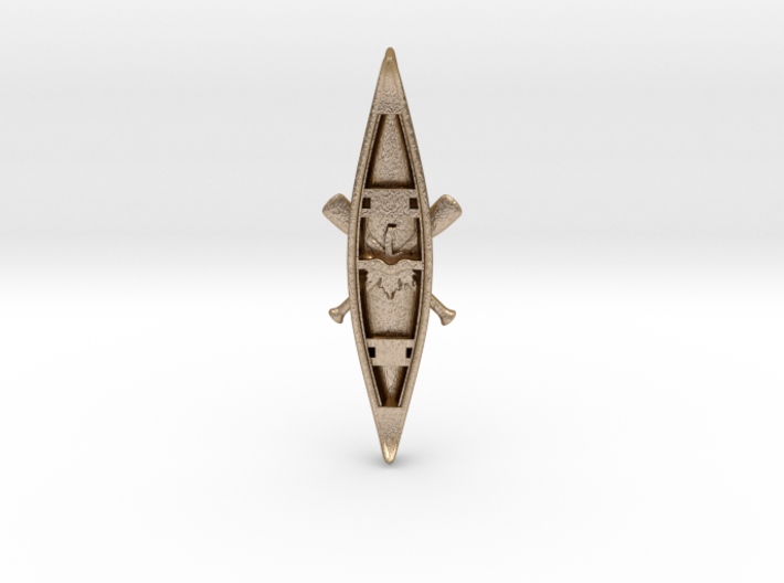 Canoe - Pendant - Paddles-Xing + Maple Leaf 3d printed