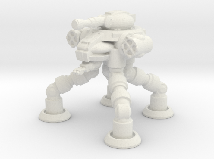 Four Leged Combat Walker 3d printed