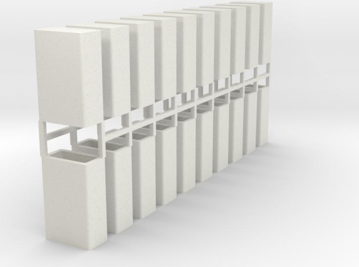 Stahlbrammen stehend 20er Set - 1:120 3d printed