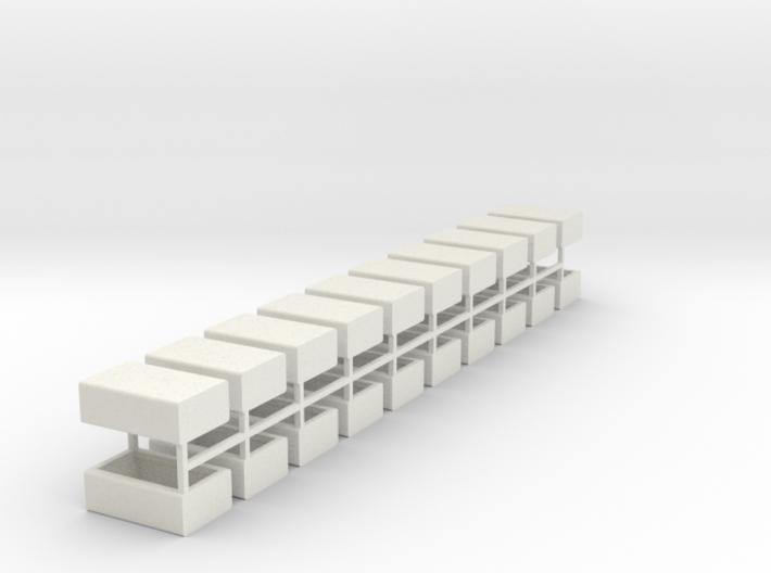 Stahlbrammen liegend 20er Set - 1:120 3d printed