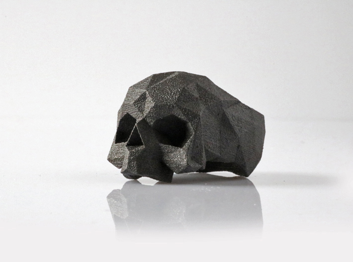 HAROW-SKULL-RING / Size - XL 3d printed