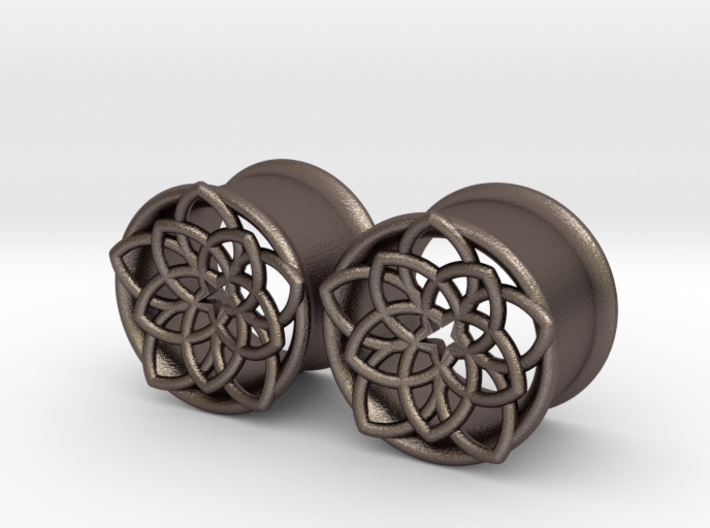 "Star Flower 5/8"" ear plugs 16mm 3d printed"
