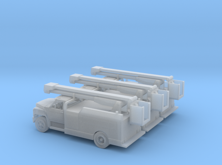 1/160 3X1980-86 Ford F600 Cherrypicker assembled 3d printed