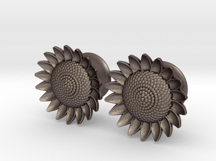 "Sunflower 5/8"" ear plugs 16mm 3d printed"
