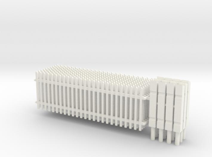 414 - Lattenzaun 1m hoch und Säulen 3d printed