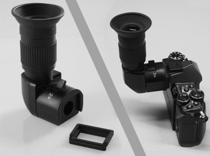 Olympus E-M5 II, E-M10 II/III angle finder adapter 3d printed
