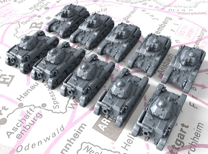 1/600 French Renault R35 Light Tank x10 3d printed 1/600 French Renault R35 Light Tank x10