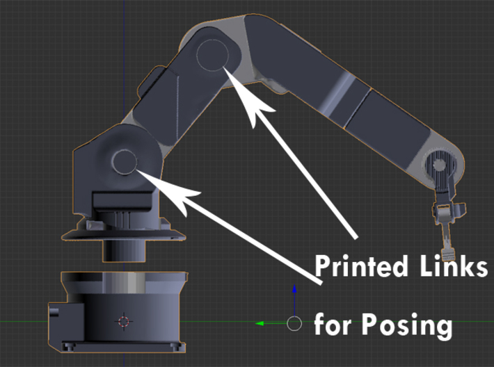 1/24 Pose-able Robotic Arm V2 3d printed