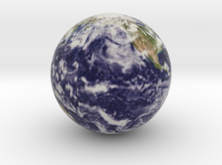 Earth with Cloud Cover 3d printed