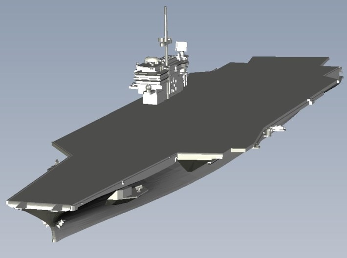 1/3000 scale USS Kitty Hawk CV-63 aircraft carrier 3d printed