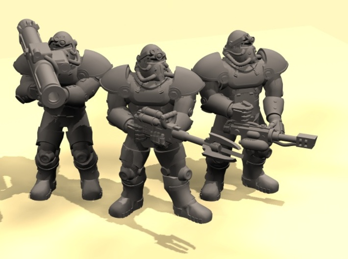 28mm Wastefall Metal Brothers fireteam 3d printed