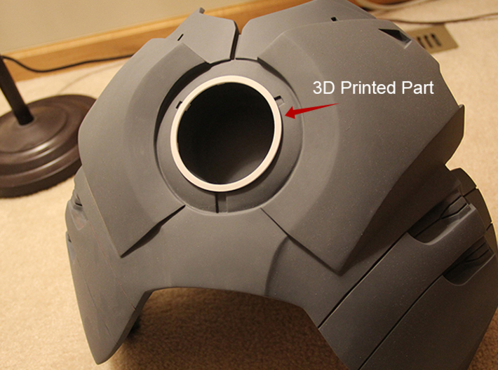 Iron Man Arc Reactor Chest Ring (90mm Wide) 3d printed 3D Printed part placed into handmade chest plate