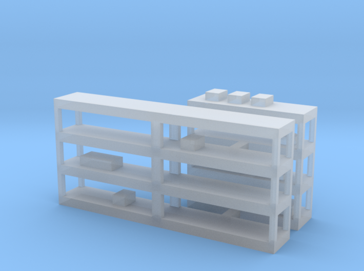 Shelving With Clutter 3d printed