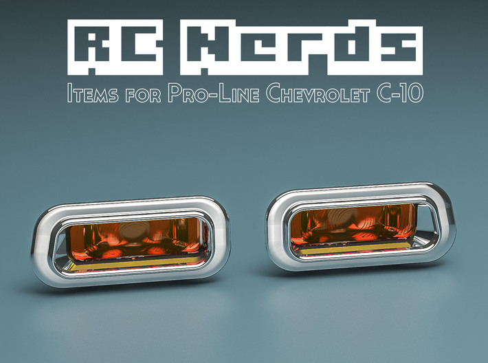 RCN038 Front upper lights lens for Chevy 66 PL 3d printed