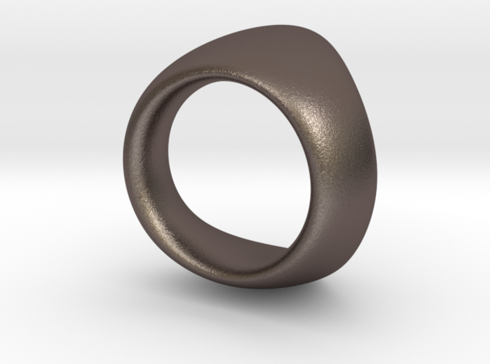 Curve Ring 3d printed