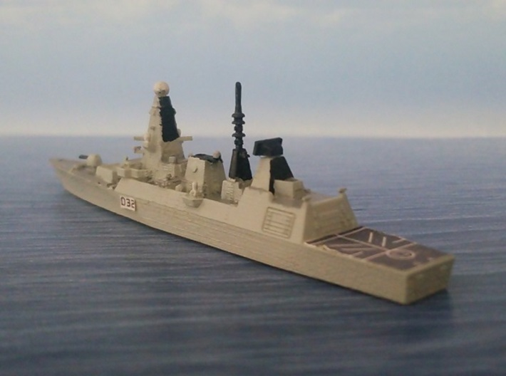 1/2000 HMS Daring 3d printed painted and decal
