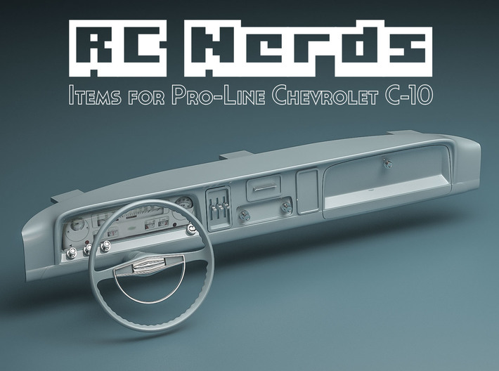 RCN040 Dashboard for Chevy 66 Pro-Line 3d printed