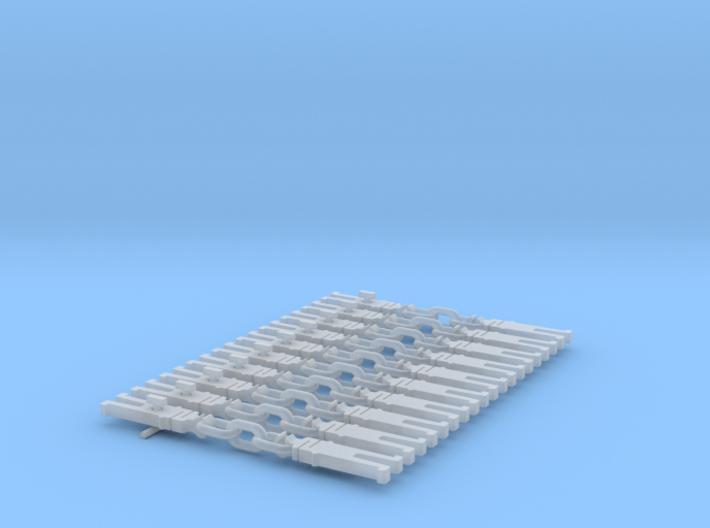 NEM OO Type 31 Couplings - Strait 3 Link x10 3d printed