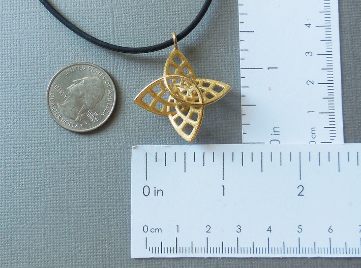 Enneper Pendant in Steel 3d printed