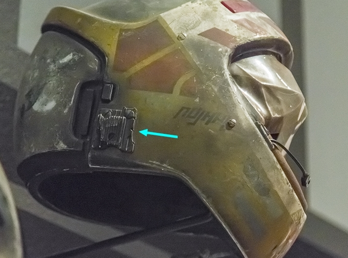 Right side grill Y wing helmet 3d printed