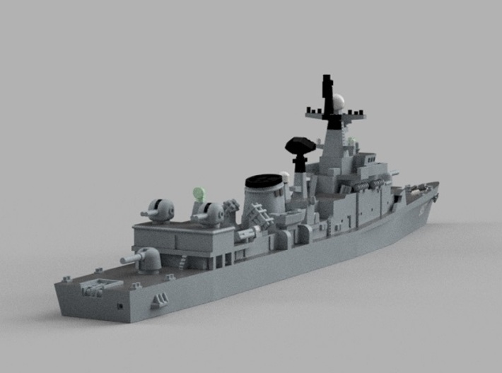1/2000  ROKS Jeonnam 3d printed Computer software render.The actual model is not full color.