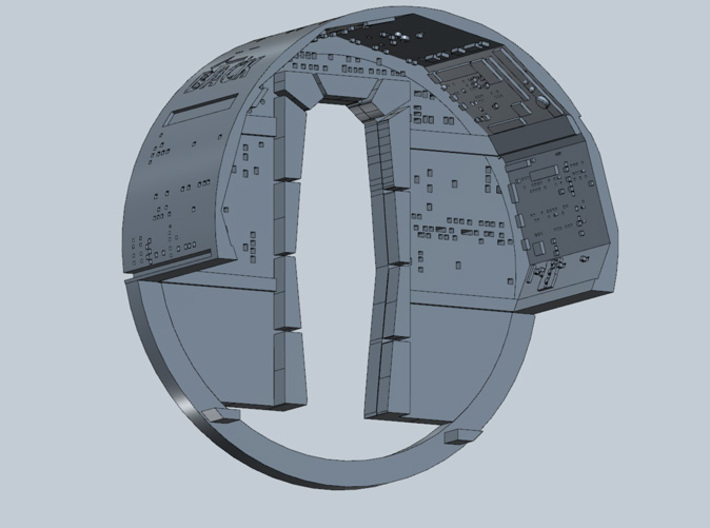 YT1300  MPC CABIN UPPER WALL 3d printed Millennium Falcon upper and back wall.