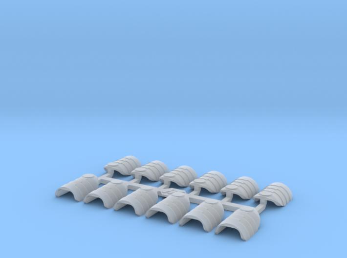 Shoulder Pads Overlap Blank 3d printed
