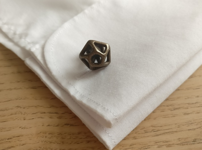 Hexagonal Cufflink Twisted 3d printed