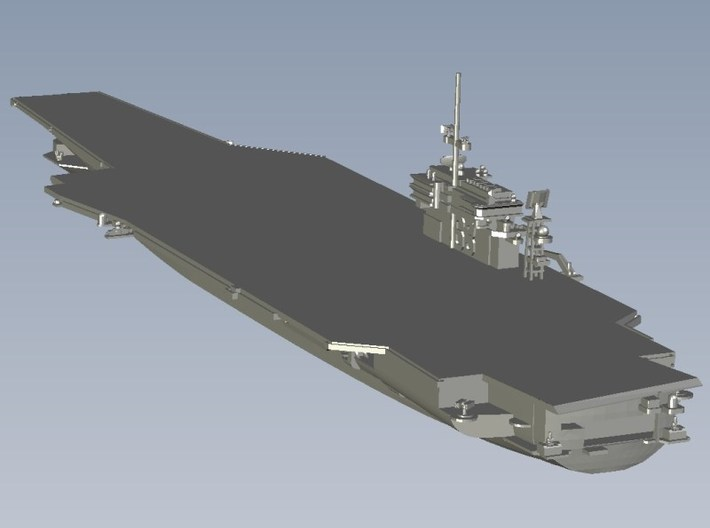 1/1800 scale USS Kitty Hawk CV-63 aircraft carrier 3d printed