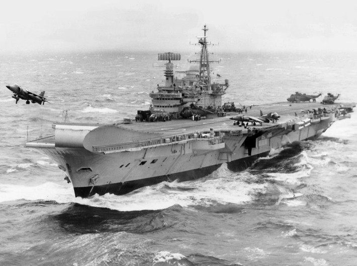 1/1800 scale HMS Hermes R-12 aircraft carriers x 3 3d printed