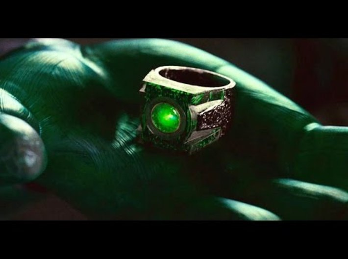 Green Lantern's Ring 3d printed