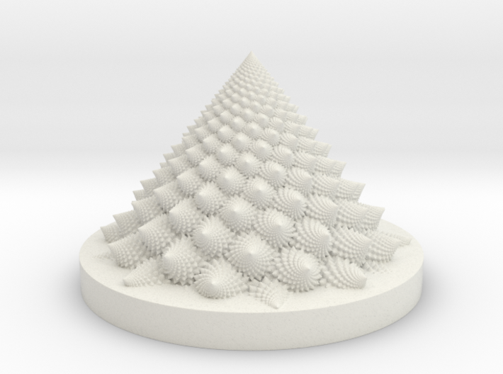 Romanesco fractal Bloom zoetrope (more resolution) 3d printed