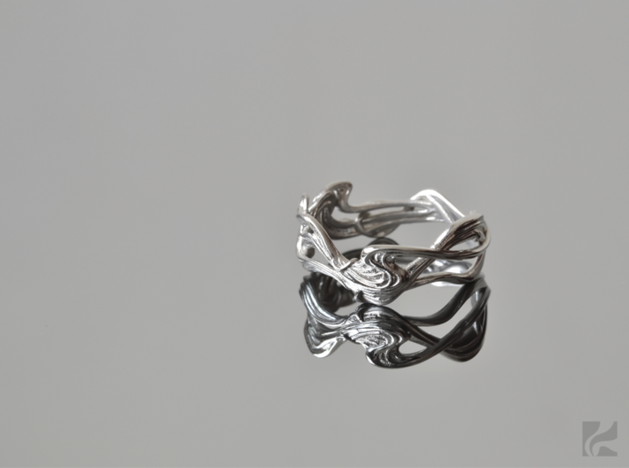 Art Nouveau Ring #1 3d printed