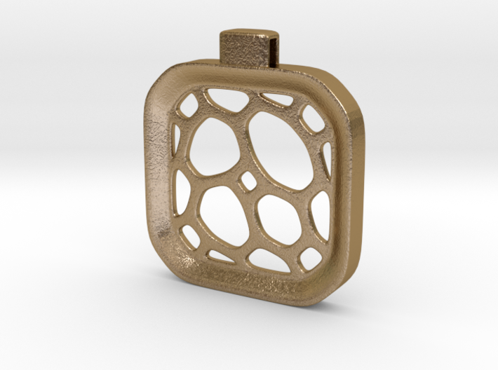 Surround ::: Square Pendant ::: v.01 3d printed